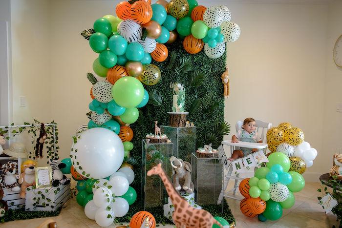 Wild One Safari Birthday Party on Kara's Party Ideas | KarasPartyIdeas.com (30)