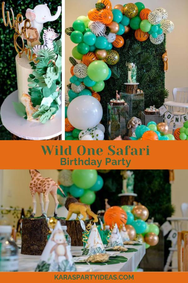 Wild One Safari Birthday Party via Kara's Party Ideas - KarasPartyIdeas.com