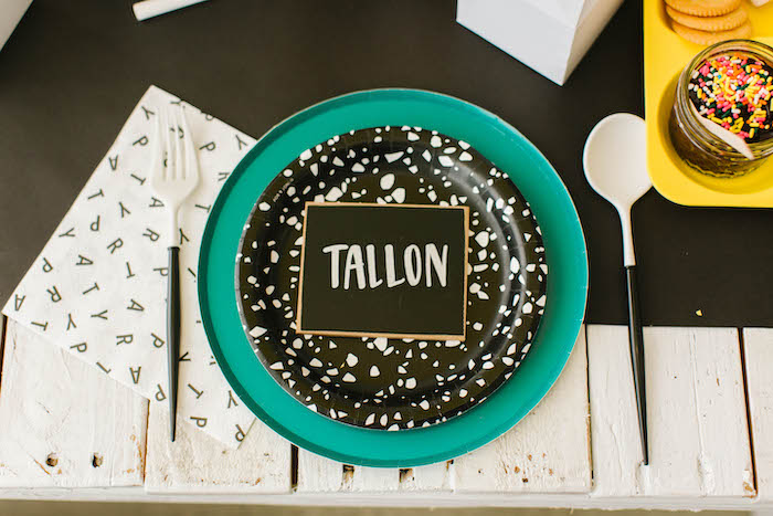 Back to School-inspired Table Setting from a Back to School Party on Kara's Party Ideas | KarasPartyIdeas.com (62)