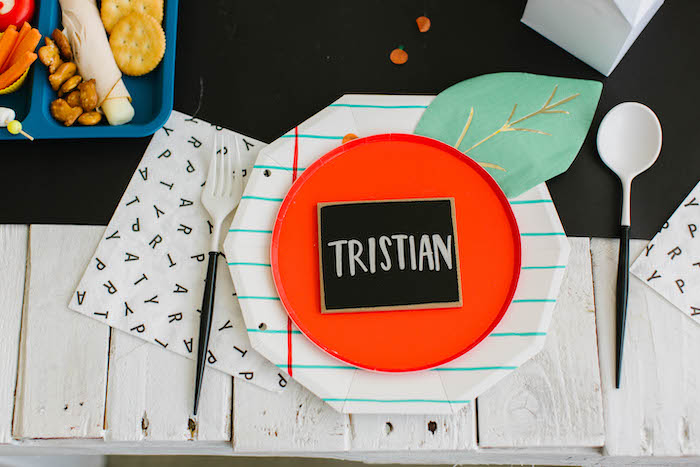 Back to School-inspired Table Setting from a Back to School Party on Kara's Party Ideas | KarasPartyIdeas.com (58)