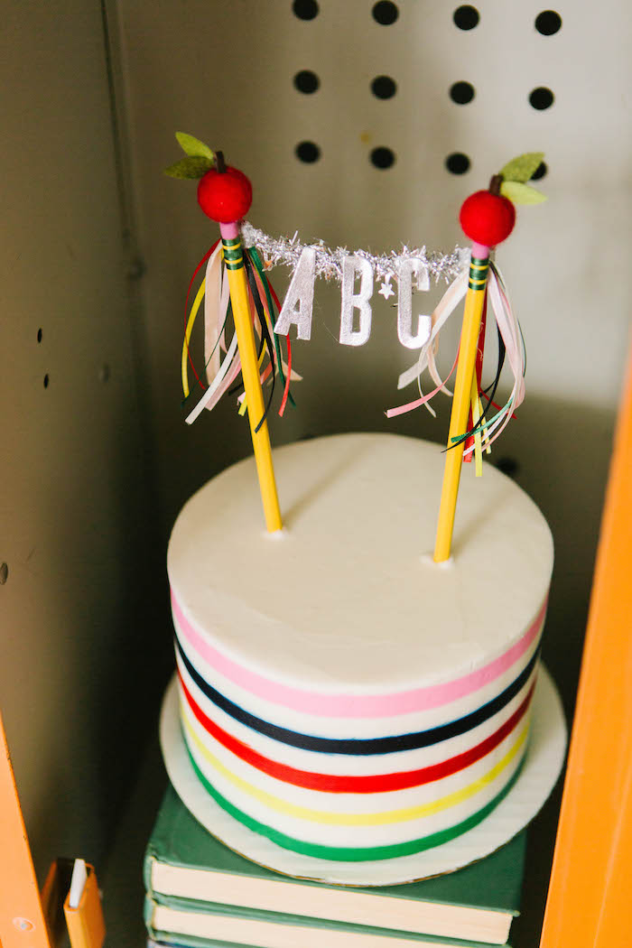 ABC Cake from a Back to School Party on Kara's Party Ideas | KarasPartyIdeas.com (42)