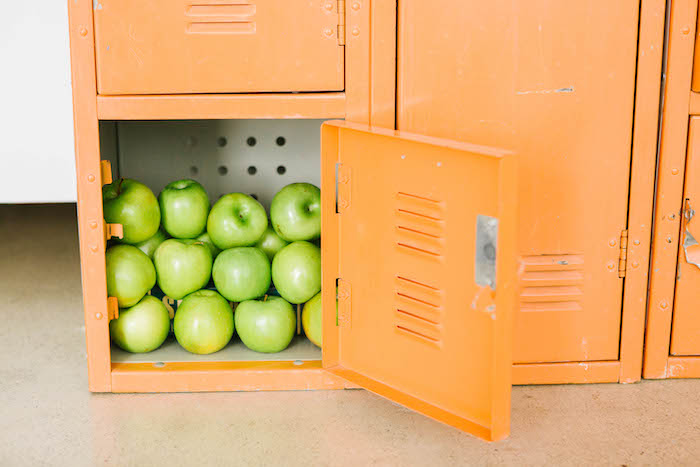 Locker of Apples from a Back to School Party on Kara's Party Ideas | KarasPartyIdeas.com (39)