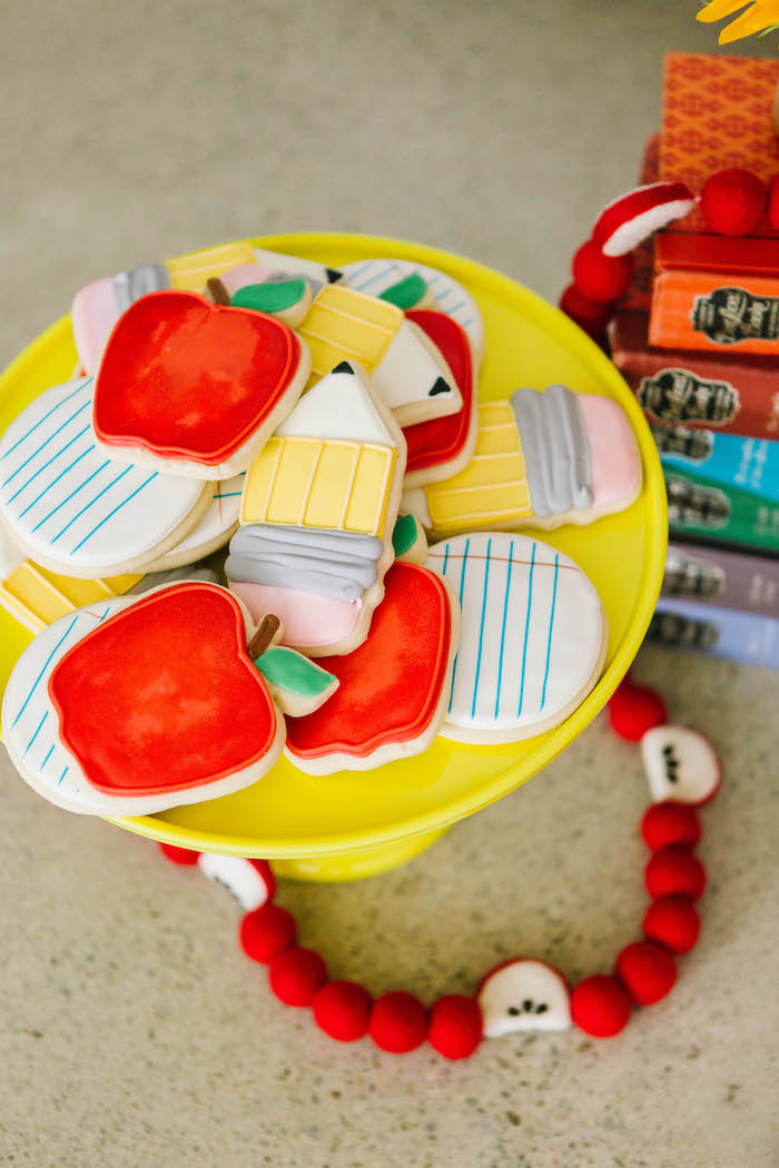 Back to School Cookies from a Back to School Party on Kara's Party Ideas | KarasPartyIdeas.com (74)