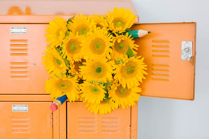 Sunflowers & Pencils from a Back to School Party on Kara's Party Ideas | KarasPartyIdeas.com (36)