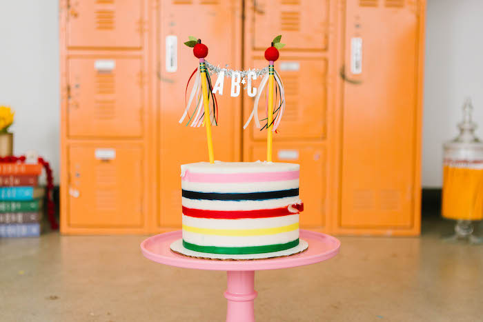 Back to School ABC Cake from a Back to School Party on Kara's Party Ideas | KarasPartyIdeas.com (73)