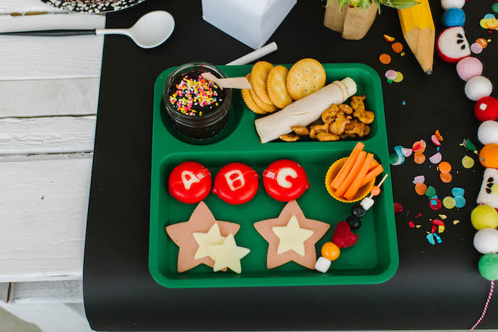 Back to School Lunch Tray from a Back to School Party on Kara's Party Ideas | KarasPartyIdeas.com (70)