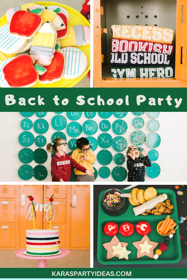 Back to School Party via Kara's Party Ideas - KarasPartyIdeas.com