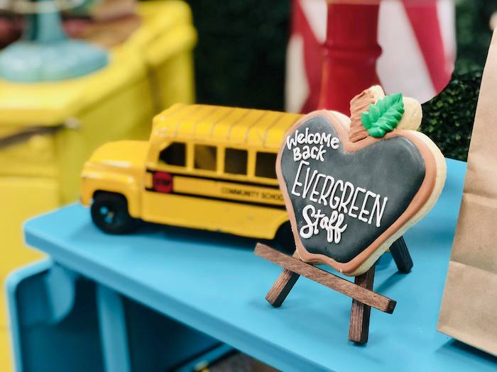 Chalkboard Apple Cookie from a Back to School Teacher & Staff Luncheon on Kara's Party Ideas | KarasPartyIdeas.com (18)