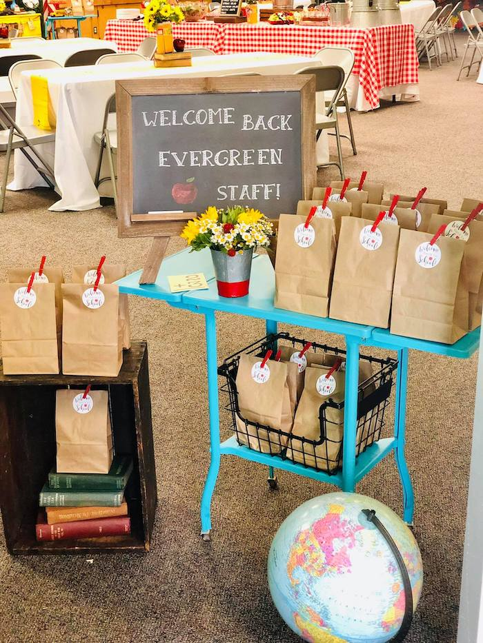 School-inspired Favor Table from a Back to School Teacher & Staff Luncheon on Kara's Party Ideas | KarasPartyIdeas.com (17)