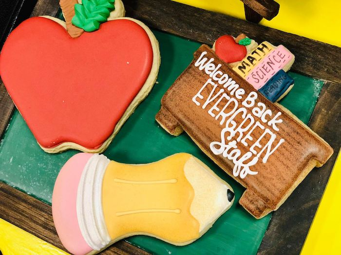 School-inspired Cookies from a Back to School Teacher & Staff Luncheon on Kara's Party Ideas | KarasPartyIdeas.com (16)