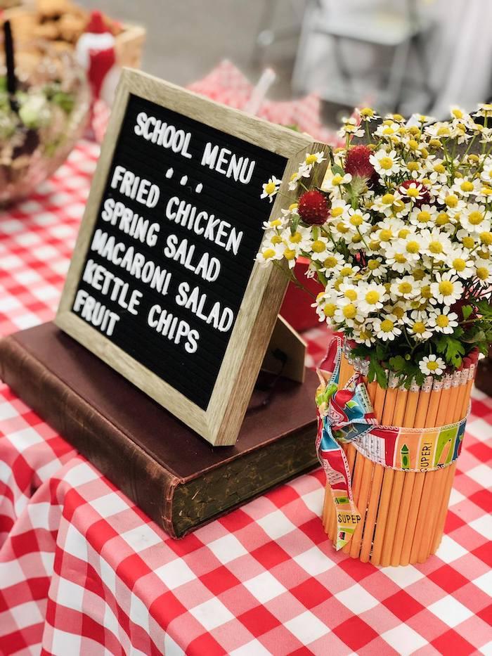 Letter Board Menu from a Back to School Teacher & Staff Luncheon on Kara's Party Ideas | KarasPartyIdeas.com (15)