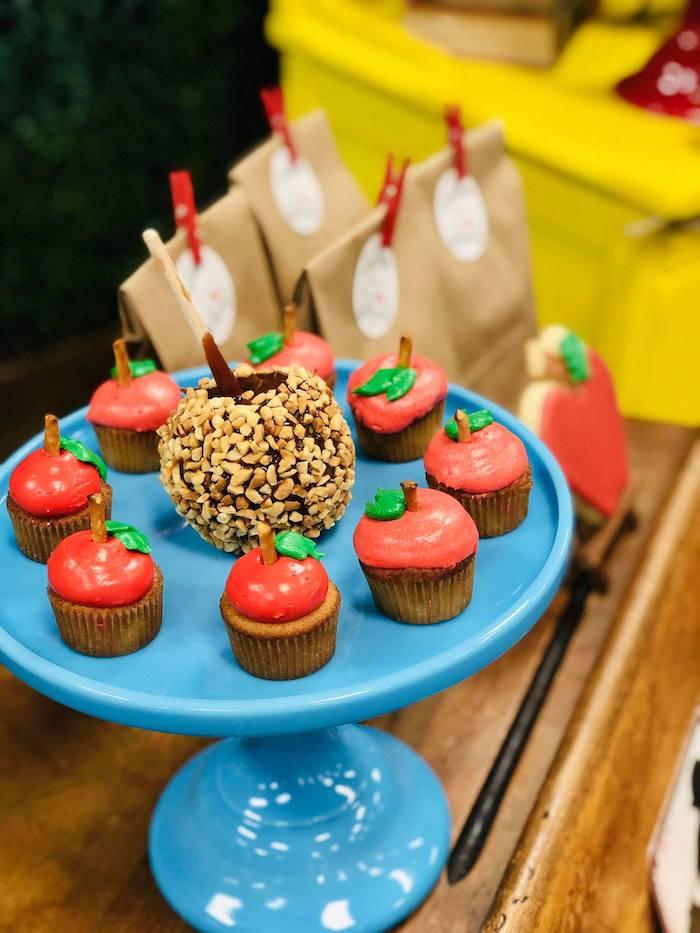 Mini Apple Cupcakes from a Back to School Teacher & Staff Luncheon on Kara's Party Ideas | KarasPartyIdeas.com (14)