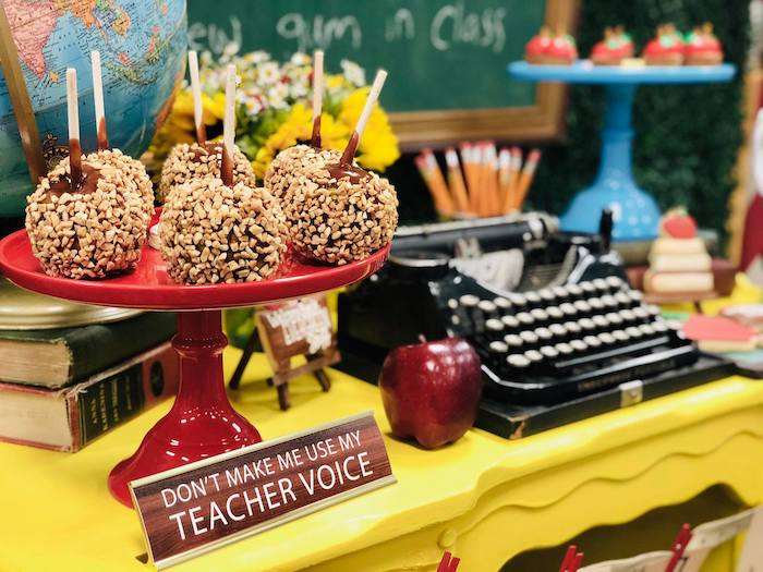 Candied Apples from a Back to School Teacher & Staff Luncheon on Kara's Party Ideas | KarasPartyIdeas.com (13)