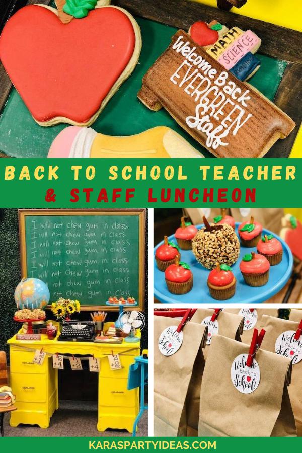 Back to School Teacher & Staff Luncheon via Kara's Party Ideas - KarasPartyIdeas.com