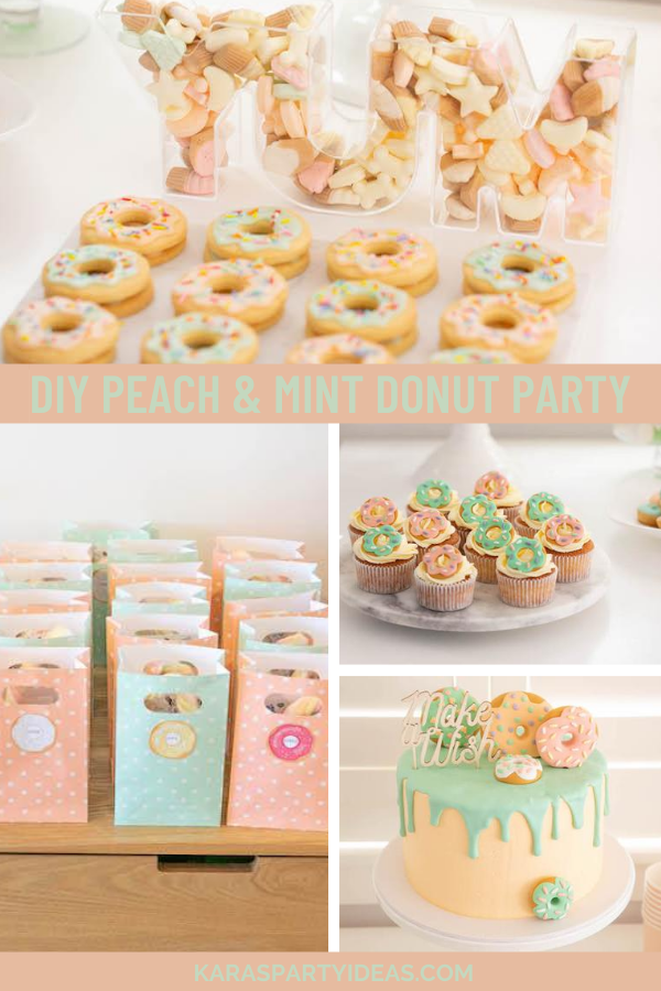 DIY Peach & Mint Donut Party via Kara's Party Ideas - KarasPartyIdeas.com