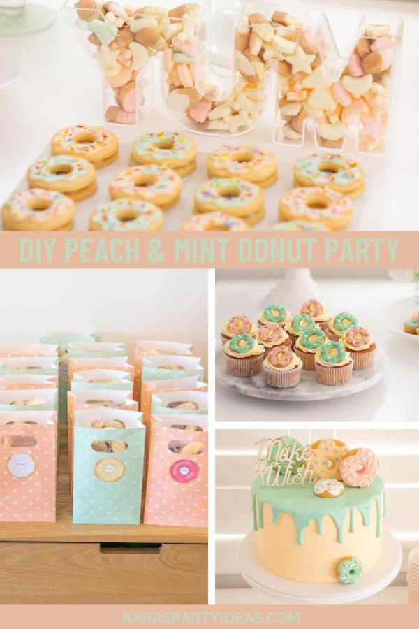DIY Peach & Mint Donut Party via Kara's Party Ideas - KarasPartyIdeas.com