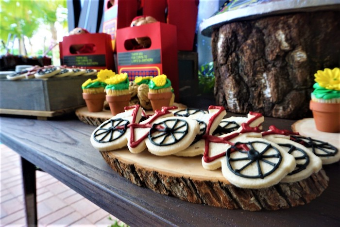 Bike cookies from an ET birthday party at Kara's Party Ideas |  KarasPartyIdeas.com (16)