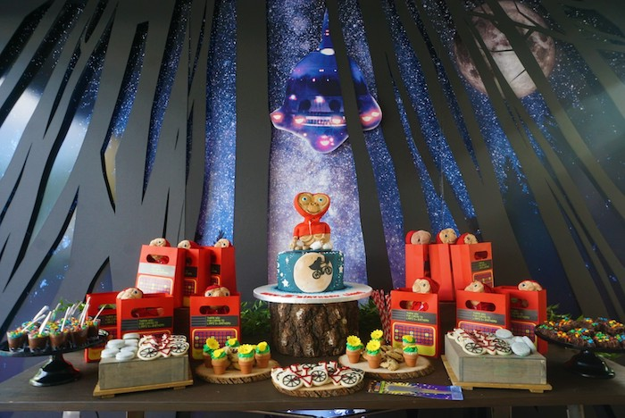 ET-inspired dessert table from an ET birthday party on Kara's Party Ideas |  KarasPartyIdeas.com (14)