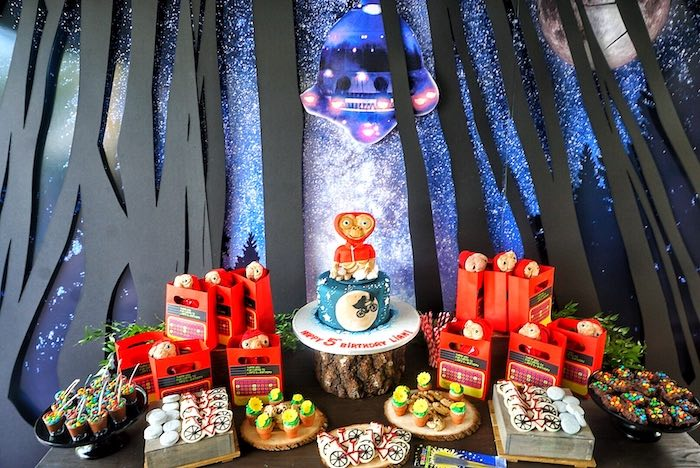 ET-inspired dessert table from an ET birthday party on Kara's Party Ideas |  KarasPartyIdeas.com (13)