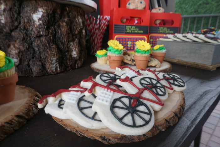 Bike cookies from an ET birthday party at Kara's Party Ideas |  KarasPartyIdeas.com (10)
