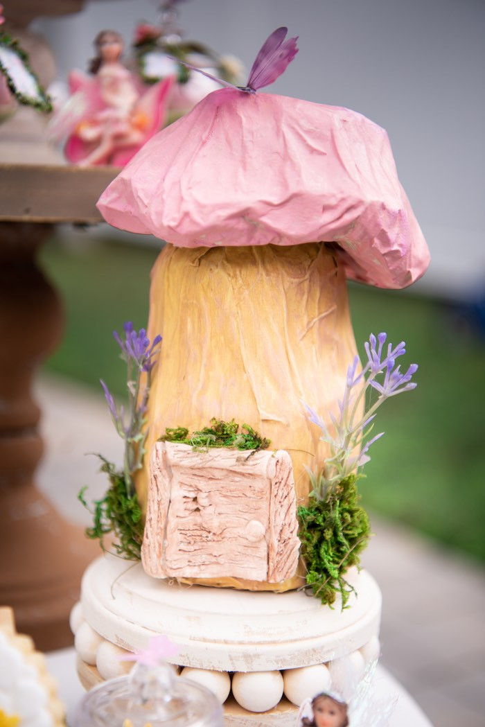 Toadstool Fairy House from a Fairy Garden Birthday Party on Kara's Party Ideas | KarasPartyIdeas.com (8)