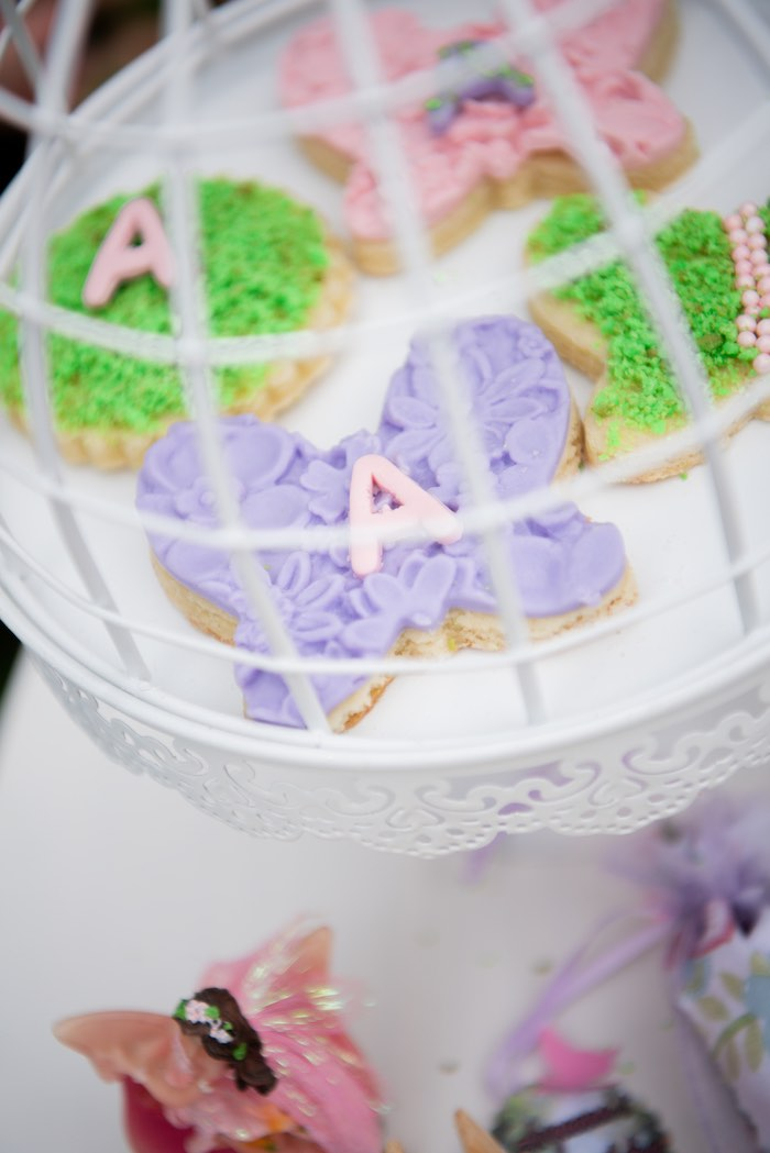 Enchanted Garden Cookies from a Fairy Garden Birthday Party on Kara's Party Ideas | KarasPartyIdeas.com (22)