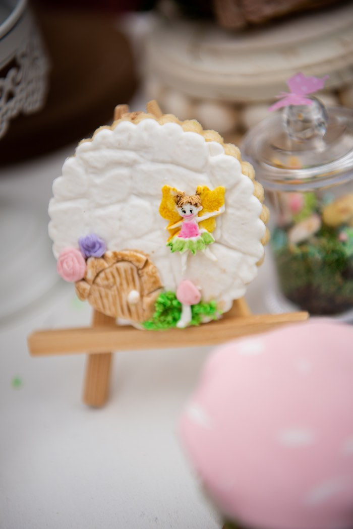 Enchanted Fairy Garden Cookie from a Fairy Garden Birthday Party on Kara's Party Ideas | KarasPartyIdeas.com (19)