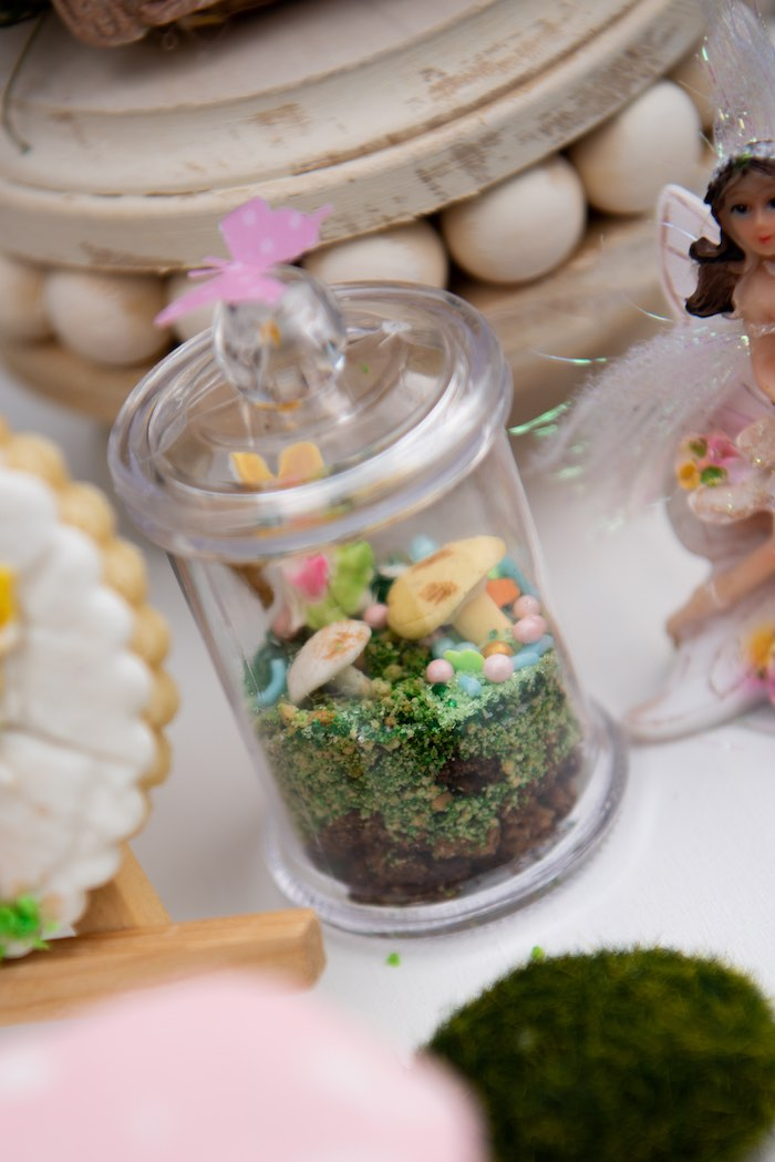 Fairy Garden Terrarium from a Fairy Garden Birthday Party on Kara's Party Ideas | KarasPartyIdeas.com (18)