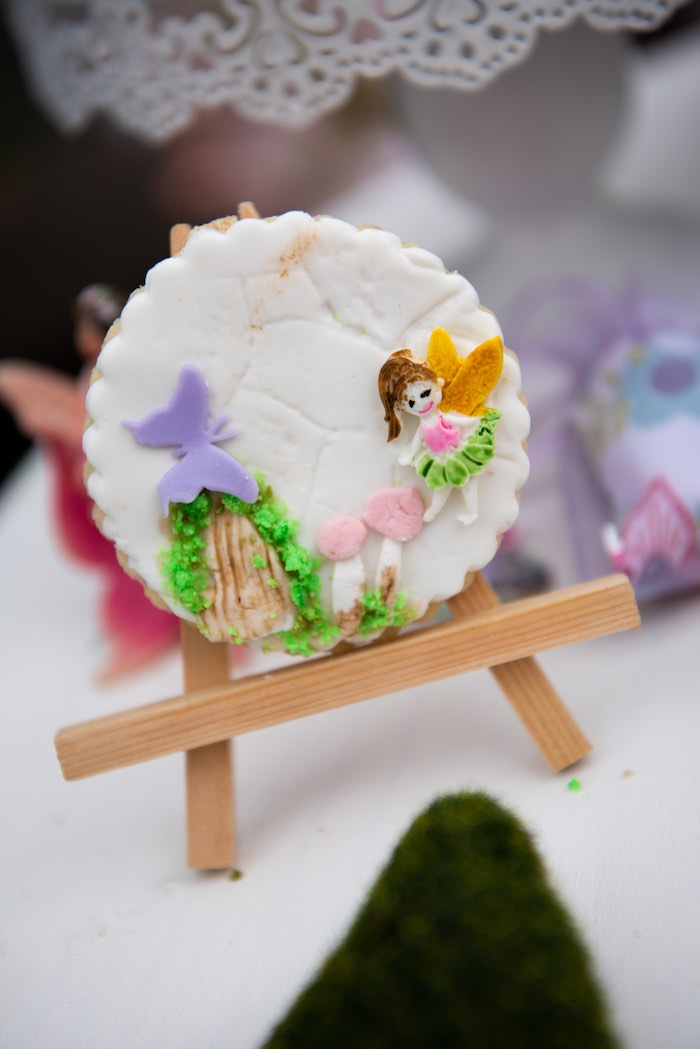 Enchanted Fairy Garden Cookie from a Fairy Garden Birthday Party on Kara's Party Ideas | KarasPartyIdeas.com (17)