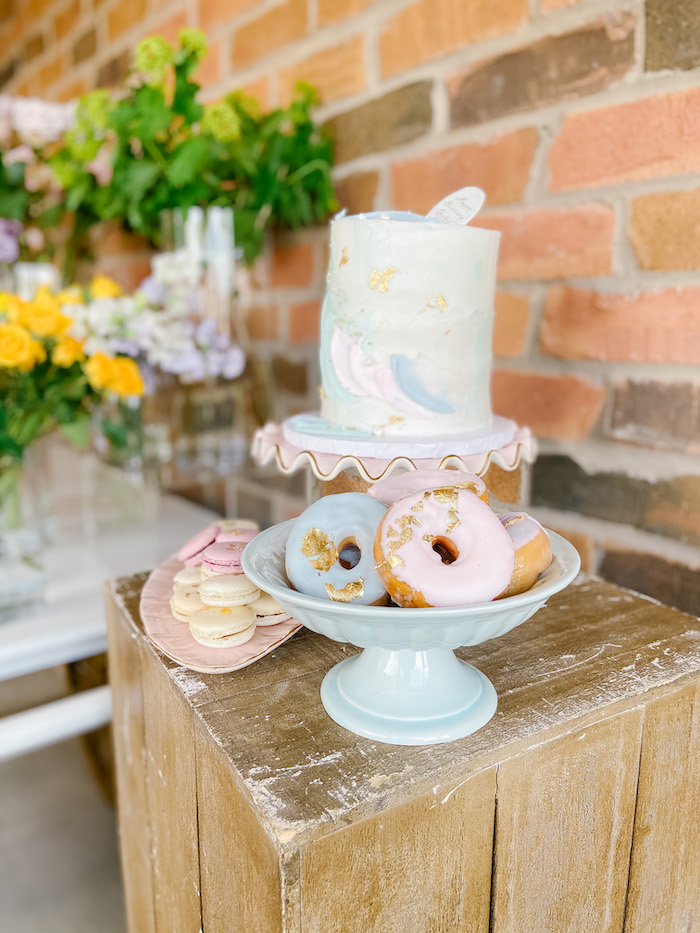Glam Doughnuts & Cake from a Fancy Flower Garden Birthday Party on Kara's Party Ideas | KarasPartyIdeas.com (23)