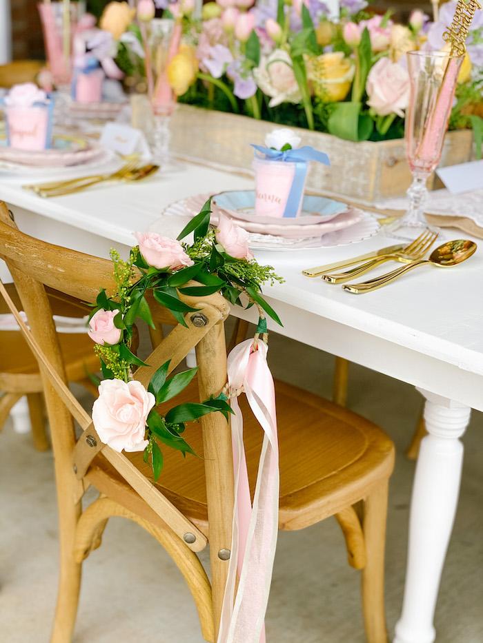 Floral Crown from a Fancy Flower Garden Birthday Party on Kara's Party Ideas | KarasPartyIdeas.com (22)