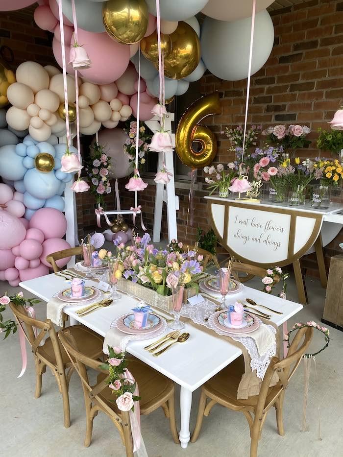 Fancy Flower Garden Birthday Party on Kara's Party Ideas | KarasPartyIdeas.com (19)