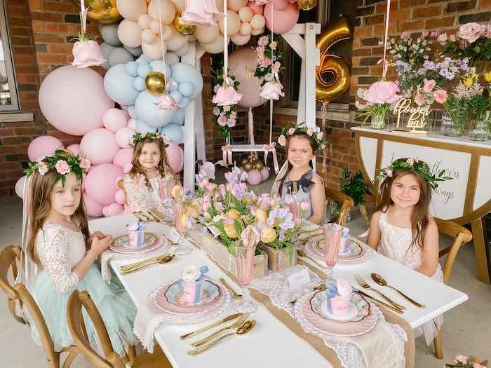 Fancy Flower Garden Birthday Party on Kara's Party Ideas | KarasPartyIdeas.com (11)