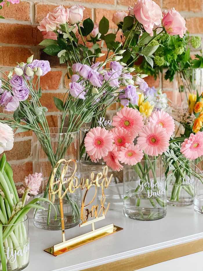 Florals from a Fancy Flower Garden Birthday Party on Kara's Party Ideas | KarasPartyIdeas.com (9)