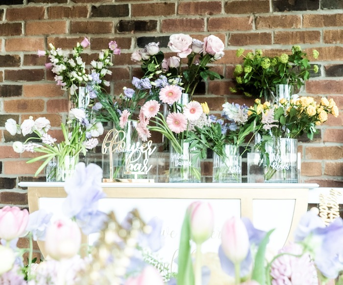 Flower Table from a Fancy Flower Garden Birthday Party on Kara's Party Ideas | KarasPartyIdeas.com (31)
