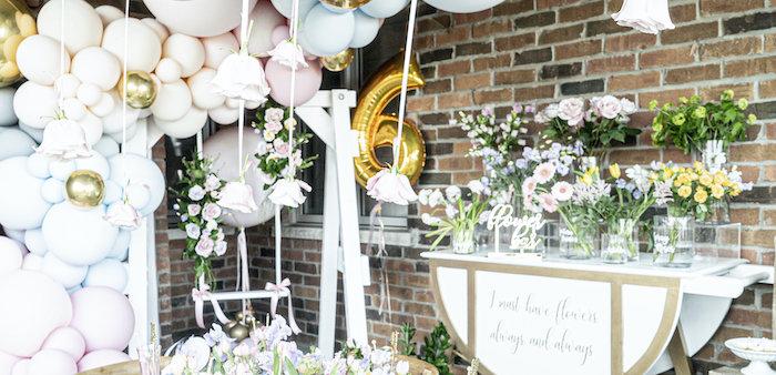 Fancy Flower Garden Birthday Party on Kara's Party Ideas   KarasPartyIdeas.com