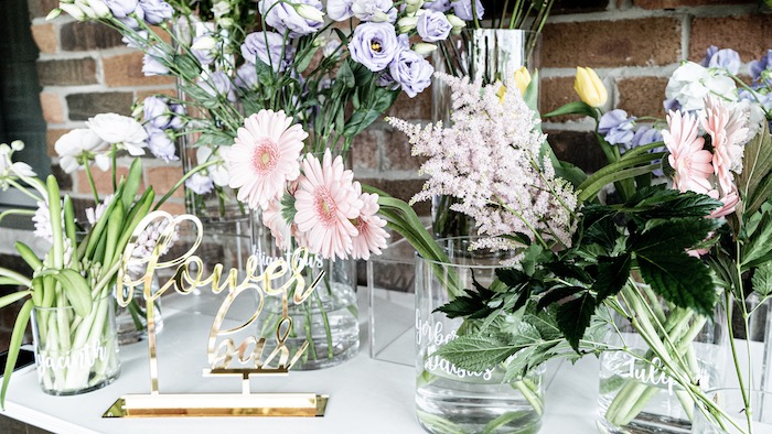 Flowers from a Fancy Flower Garden Birthday Party on Kara's Party Ideas | KarasPartyIdeas.com (28)