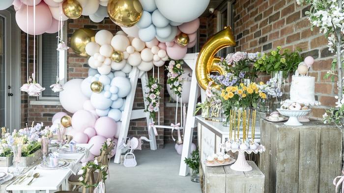 Fancy Flower Garden Birthday Party on Kara's Party Ideas | KarasPartyIdeas.com (27)