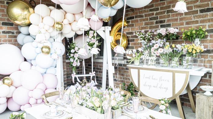 Fancy Flower Garden Birthday Party on Kara's Party Ideas | KarasPartyIdeas.com (26)