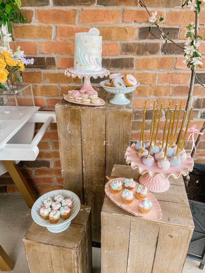 Pastel Dessert Spread from a Fancy Flower Garden Birthday Party on Kara's Party Ideas | KarasPartyIdeas.com (24)