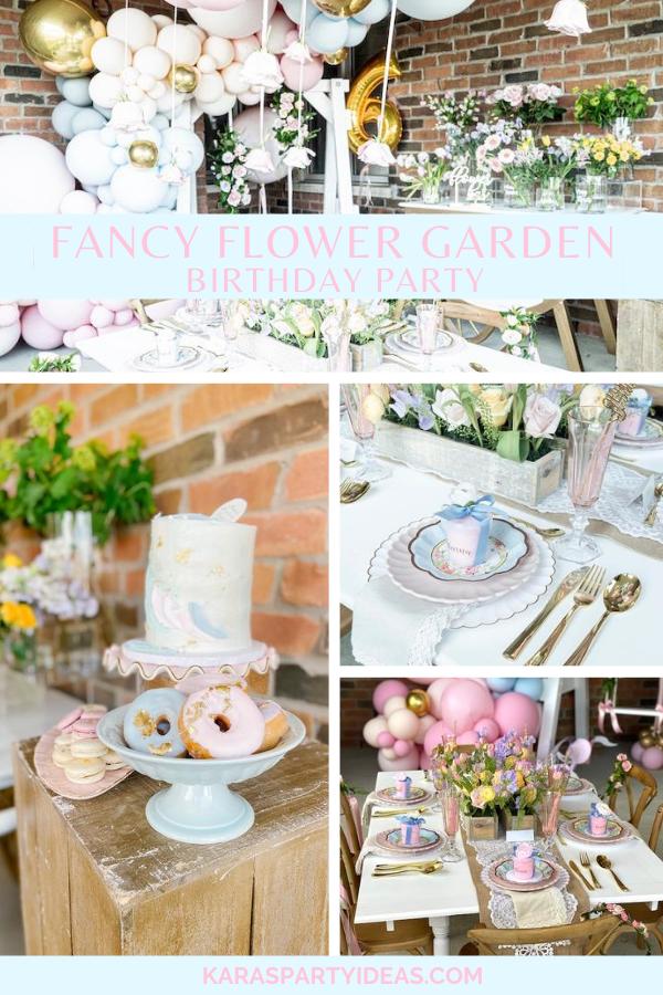 Fancy Flower Garden Birthday Party via Kara's Party Ideas - KarasPartyIdeas.com