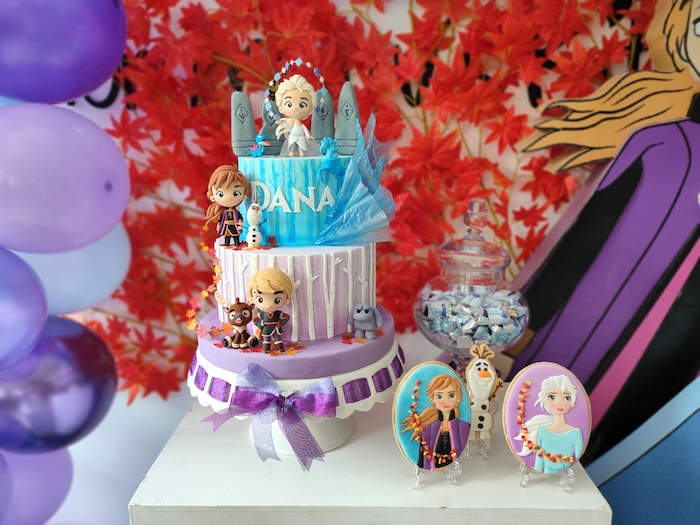 Frozen 2 Birthday Cake from a Frozen 2 Birthday Party on Kara's Party Ideas | KarasPartyIdeas.com (9)