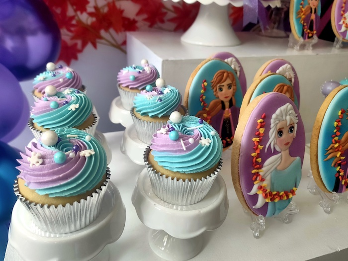 Frozen-inspired Cupcakes from a Frozen 2 Birthday Party on Kara's Party Ideas | KarasPartyIdeas.com (20)