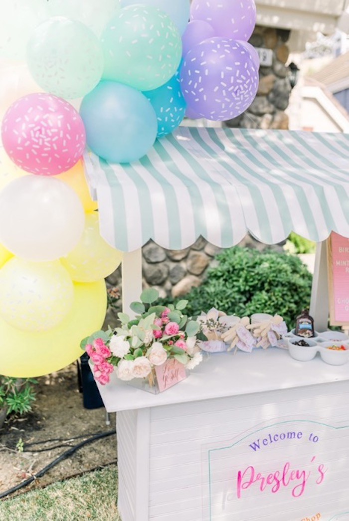 Ice Cream Cart from an Ice Cream Unsocial on Kara's Party Ideas | KarasPartyIdeas.com
