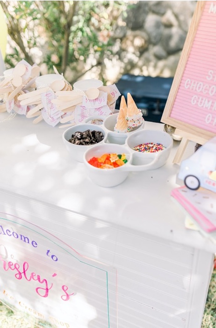 Ice Cream Toppings from an Ice Cream Unsocial on Kara's Party Ideas | KarasPartyIdeas.com