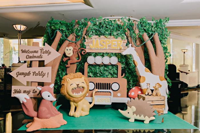 Jungle Party Welcome from a Jungle Animal Birthday Party on Kara's Party Ideas | KarasPartyIdeas.com (13)