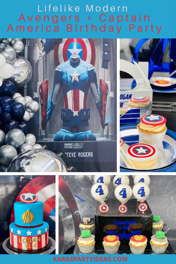 Lifelike Modern Avengers + Captain America Birthday Party via Kara's Party Ideas - KarasPartyIdeas.com