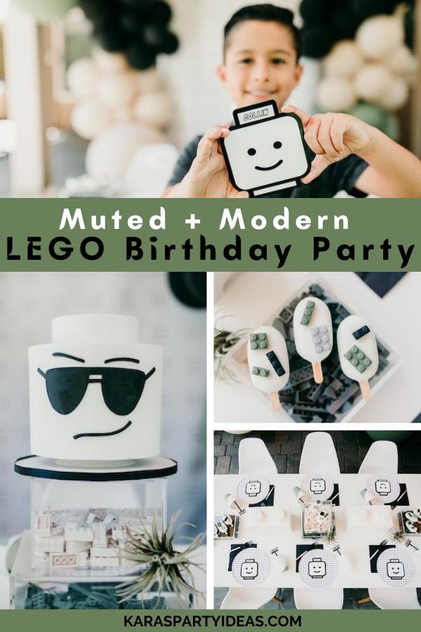 Muted + Modern Lego Birthday Party via Kara's Party Ideas - KarasPartyIdeas.com