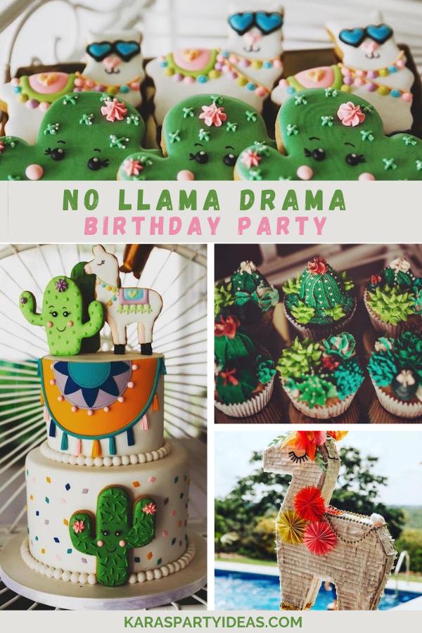 No Llama Drama Birthday Party via Kara's Party Ideas - KarasPartyIdeas.com