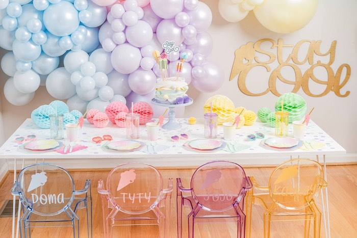 Ice Cream Themed Party Table from a Pastel Ice Cream Party on Kara's Party Ideas | KarasPartyIdeas.com (31)